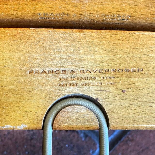 Mid-Century Modern Ole Wanscher Lounge Chair for France & Daverkosen For Sale In Phoenix - Image 6 of 9