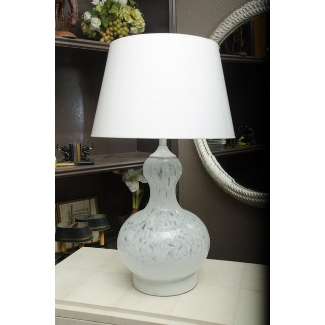Glass Attractive Murano Glass Table Lamp with Custom Shade For Sale - Image 7 of 7