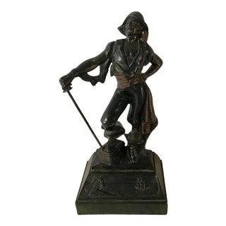 Paul Herzel Vintage Bronze Pirate Statue