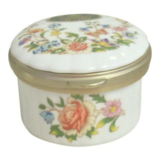 1960s Vintage Aynsley China Box For Sale