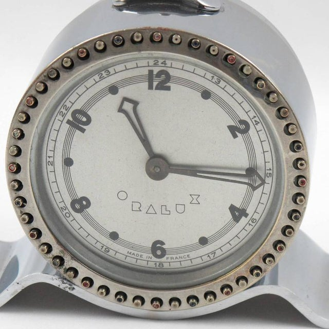 Art Deco Machine Age Oralux Chrome Clock for Blind People - Image 6 of 9