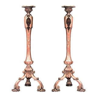 French Louis XV Stripped Pedestals - a Pair For Sale