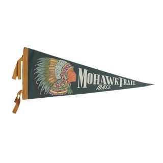 Vintage Mohawk Trail Mass. Felt Flag Pennant For Sale