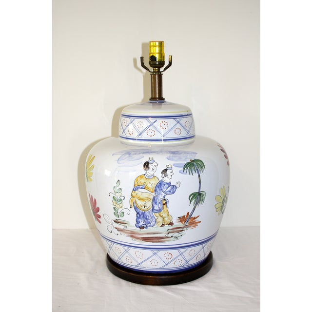 Frederick Cooper Hand-Painted Italian Lamp - Image 2 of 8