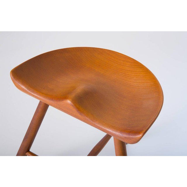 Beech Danish Modern Milking Stool For Sale - Image 7 of 10