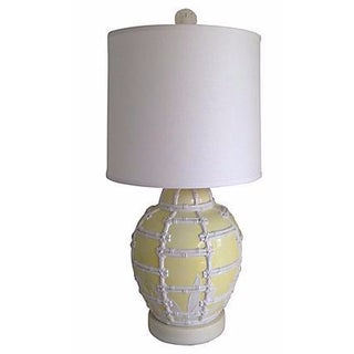 Oversize Bamboo Trellis Lamp by F. Cooper & Shade For Sale