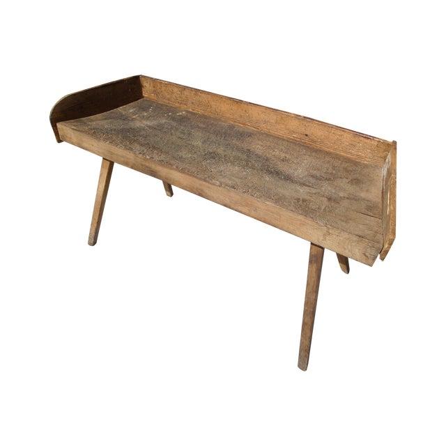 Primitive Wood Butcher Block Table - Image 1 of 5