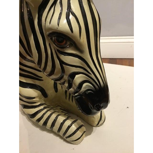 Large Italian Ceramic Zebra For Sale In Wichita - Image 6 of 9