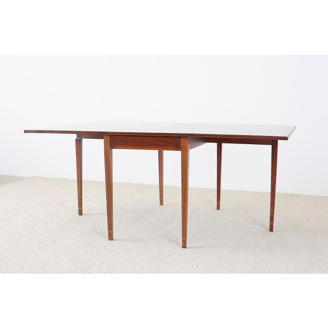 American Hepplewhite Style Mahogany Banquet Dining Table For Sale In San Francisco - Image 6 of 13
