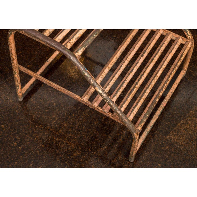 Painted Iron Steps From A Train, French Circa 1890 For Sale - Image 4 of 4