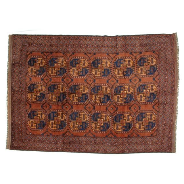 "Leon Banilivi Afghan Elephant Foot Rug - 8'9"" X 12' For Sale In New York - Image 6 of 6"