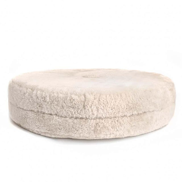 Not Yet Made - Made To Order Drum Stacking Floor Cushion in Dune Shearling by Moses Nadel For Sale - Image 5 of 7