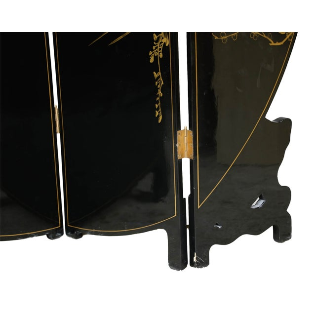 Chinese Four Panel Gilt Lacquer Floor Screen - Image 9 of 9