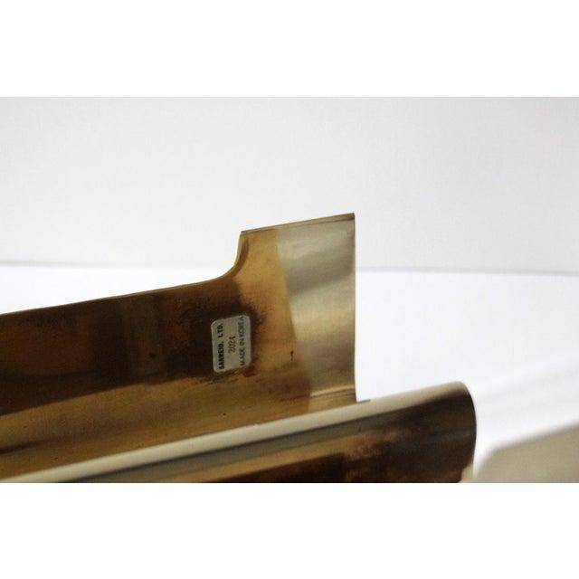 Sarreid Ltd. Vintage Brass Sarreid Letter Holder For Sale - Image 4 of 5