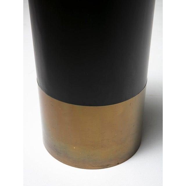 Cartuccia umbrella stand / paper bin by Luigi Caccia Dominioni for Azucena. Sculptural piece with brass and lacquered...