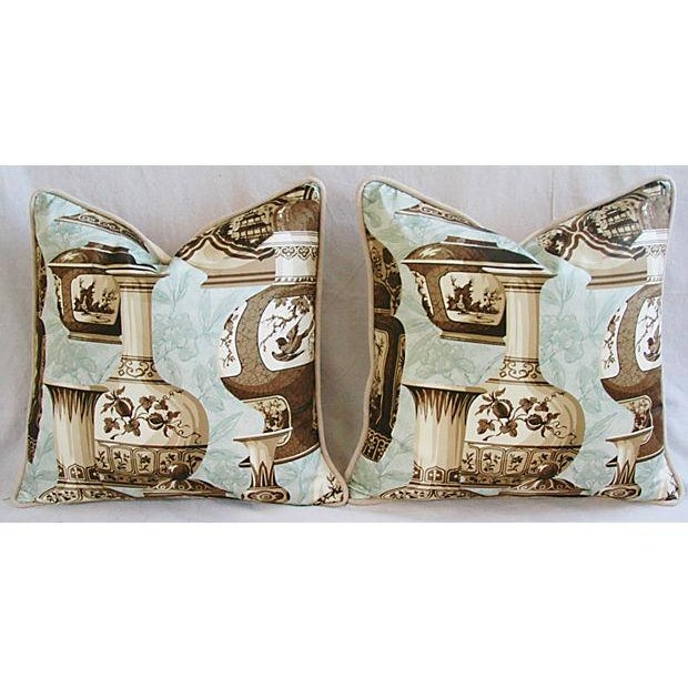 Custom Braemore Chinoiserie Vase Pillows - A Pair For Sale - Image 9 of 10