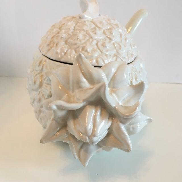 Ceramic Bordallo Pinheiro Pineapple Tureen For Sale - Image 7 of 8