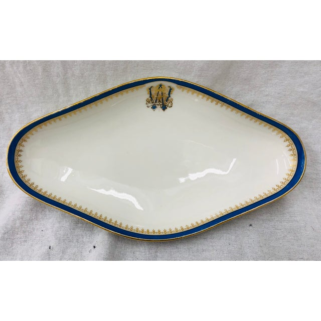 Late 19th Century Antique French Porcelain Dish For Sale - Image 5 of 10