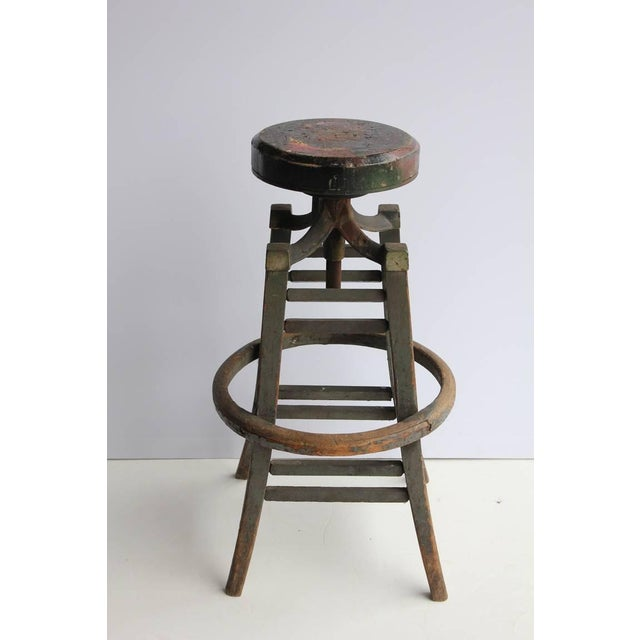 Antique Drafting Stool - Image 2 of 4