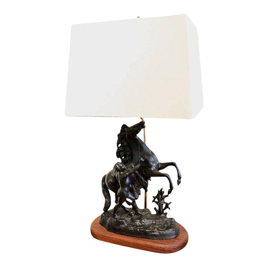 Cheval De Marly (Marly Horse) Lamp For Sale