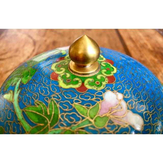 Cloisonné 1970s Chinese Cloisonne Trinket Box For Sale - Image 7 of 13
