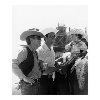 "James Dean and Bob Hinkle on location for ""Giant"" in Marfa, Texas 1955"