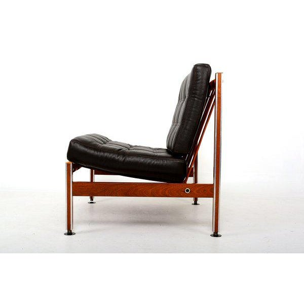 1970s Pair of Mid Century Mexican Modernist Lounge Chairs Barcelona For Sale - Image 5 of 5