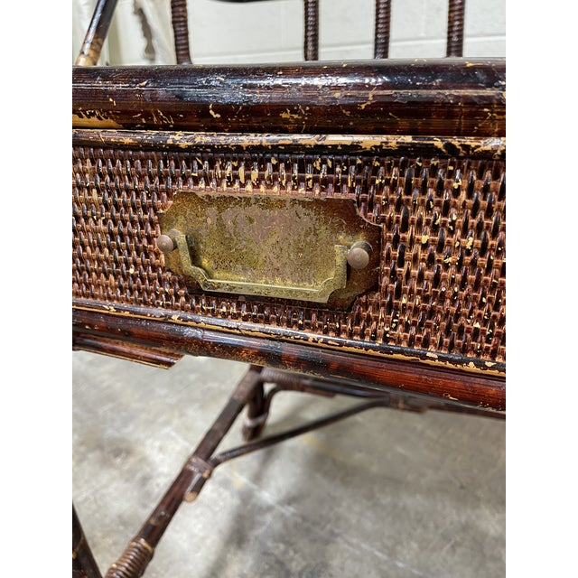 Vintage Bamboo Writing Desk For Sale In Richmond - Image 6 of 12
