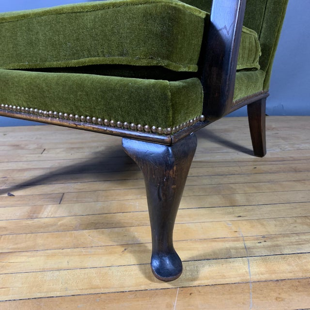 Mid-Century Modern 1950s Walter Knoll Mini Wingchair, Mohair, Germany For Sale - Image 3 of 12