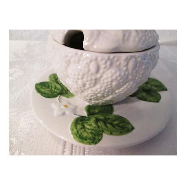 Italian Floral & Fruit Jam Jar For Sale - Image 4 of 6