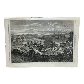 "Mid 19th C. Antique ""The Harbour of Hong-Kong"" Print For Sale"