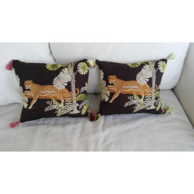Luxe Leopards & Zebra With Taffeta Ruffled Pillows - Set of 5 - Image 6 of 9