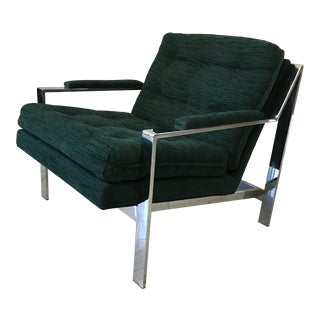 Milo Baughman for Thayer Coggin Chrome Lounge Chair