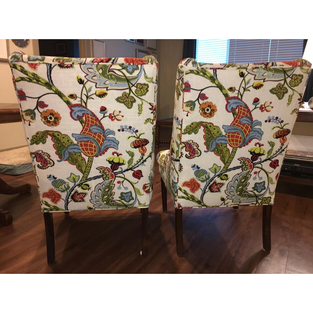 Colorful Reupholstered Slipper Chairs - A Pair - Image 5 of 8