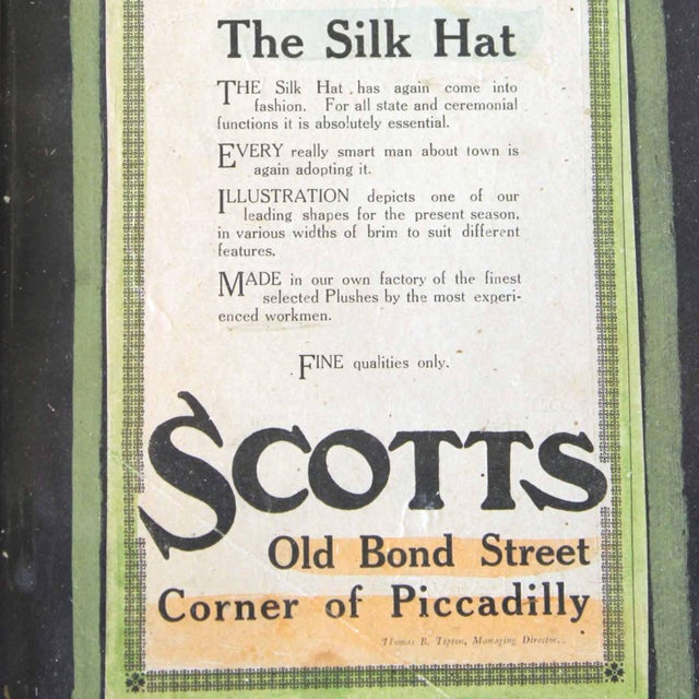 French Framed Scott & Co. Silk Hat Ad For Sale - Image 3 of 3