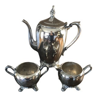 Fb Rogers Silver Co. 2670 Silver 3-Piece Tea Set For Sale