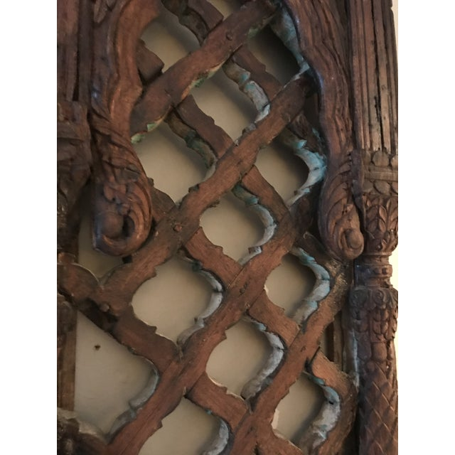 Antique Carved Mahogany Architectural Piece For Sale - Image 4 of 6