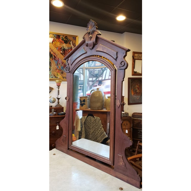 19th Century Antique Eastlake Style Dresser With Mirror and Hidden Drawer For Sale In New York - Image 6 of 12