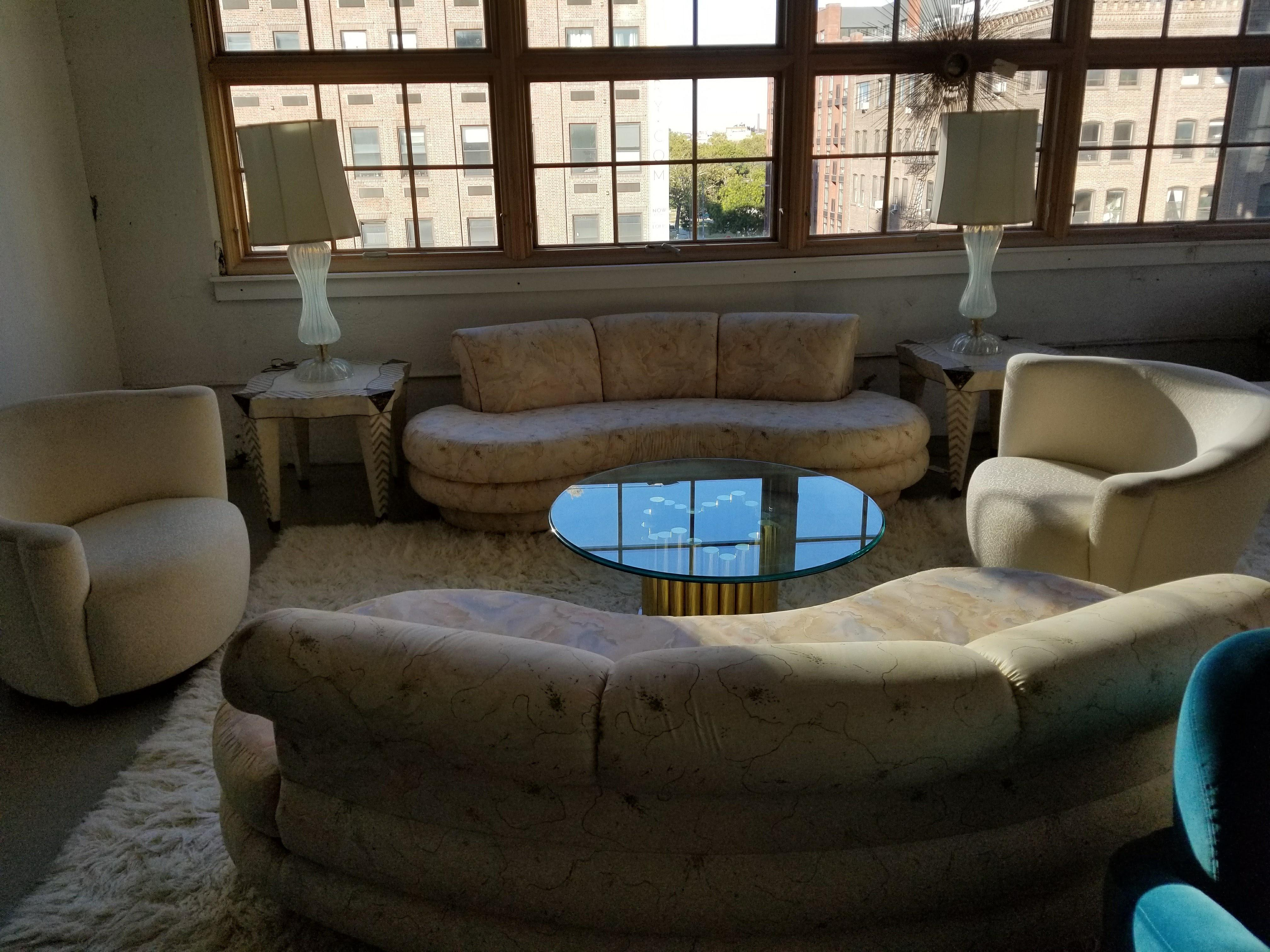 Ordinaire Adrian Pearsall For Comfort Designs Curved Kidney Shaped Sofa/ Final  Markdown For Sale   Image