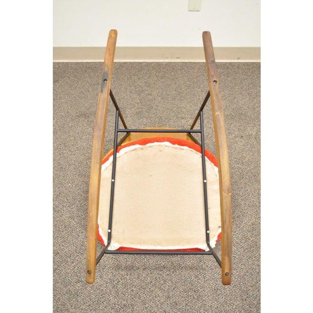Vintage Mid Century Danish Modern Lb Kofod Larsen Penguin Rocking Chair Rocker - Image 9 of 11