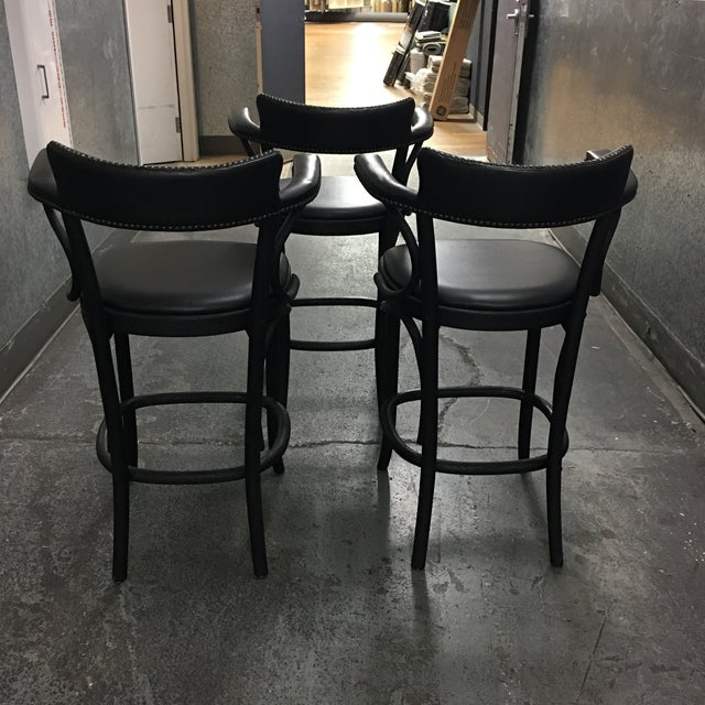 Restoration Hardware Vienna Cafe Barstools - Set of 3 - Image 4 of 10