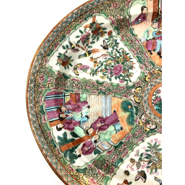 Asian Exceptional & Large Chinese Export Canto, Rose Medallion Platter, 18th C. For Sale - Image 3 of 11