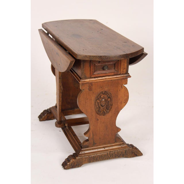 Baroque Style Drop Leaf Side Table For Sale - Image 12 of 12