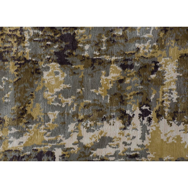 Contemporary Stark Studio Rugs Contemporary New Oriental Tibetan Silk Rug - 8′ × 10′1″ For Sale - Image 3 of 3
