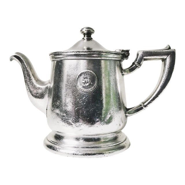 1947 Silver Plate Teapot From the Mayflower Washington DC For Sale