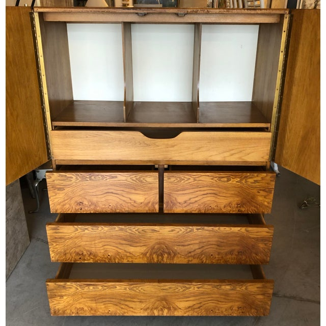 Mid-Century Modern Burl Wood Cabinet by Lane Altavista For Sale - Image 3 of 7