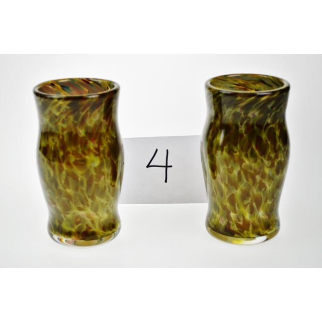 Hand-Blown Art Glass Vessels - A Pair - Image 4 of 11