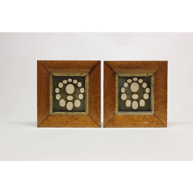 19th Century Antique Grand Tour Intaglio Sculptural Wall Objects - a Pair For Sale - Image 13 of 13