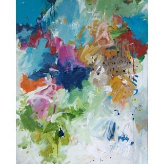 """""""When the Rain Starts to Dry and the Birds Begin to Sing"""" Abstract Painting by Gina Cochran For Sale"""