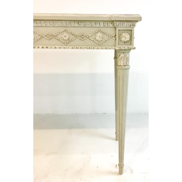 Gustavian (Swedish) Ave Home Gustavian Swedish Gray Console Table For Sale - Image 3 of 5